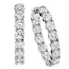 .25 Carat Each Diamond Hoop Earrings