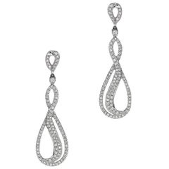 Long Diamond Dangle Earrings