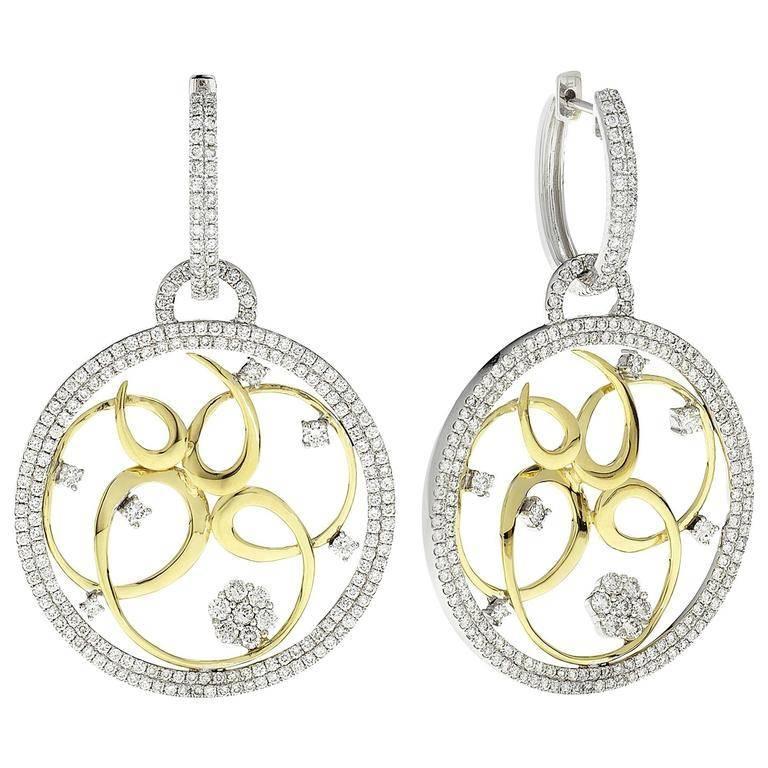 Emilio Jewelry Handmade Micro Pave Diamond Earring