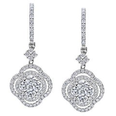 Delicate Elegant Diamond Earrings