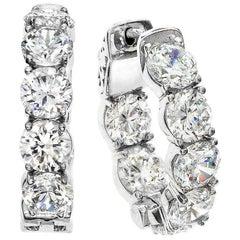 Inside Out Diamond Gold Hoops Earrings