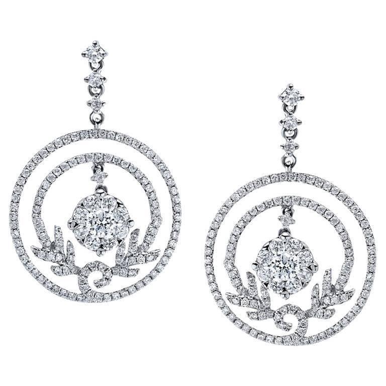 Emilio Jewelry Floral Diamond Earrings