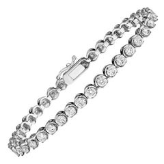 Emilio Jewelry .11 Carat Each Diamond Bracelet
