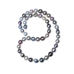 Natural Tahitian and South Sea Pearl Necklace
