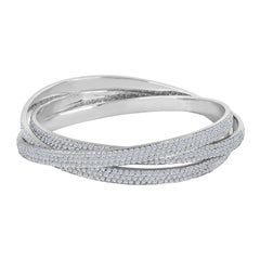 Emilio Jewelry 20.00 Carat Pave Diamond Rolling Bangle