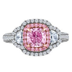 Emilio Jewelry 3.10 Carat GIA Certified Natural Flawless Pink Diamond Ring