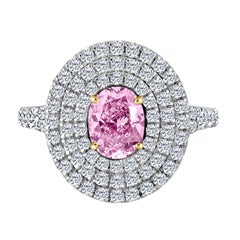 Emilio Jewelry 2.50 Carat GIA Certified Fancy Pink Diamond Ring