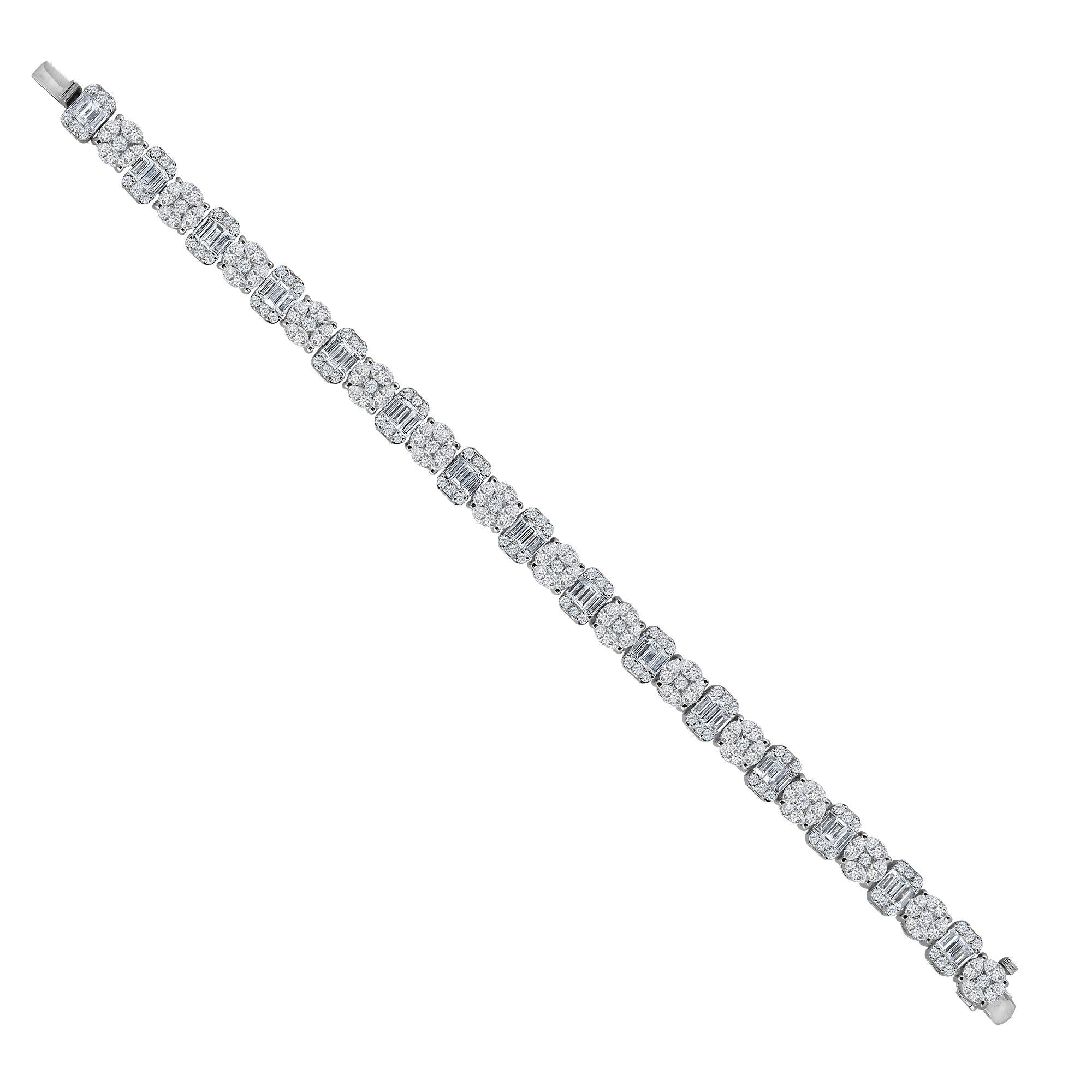 Emilio Jewelry 10.65 Carat Diamond Bracelet