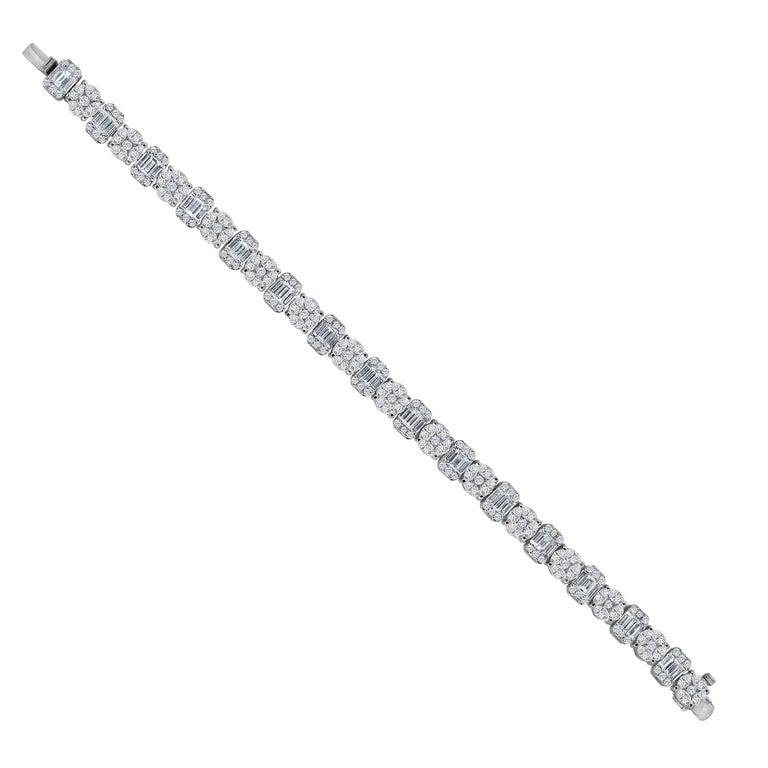 Emilio Jewelry 10.65 Carat Diamond Bracelet For Sale
