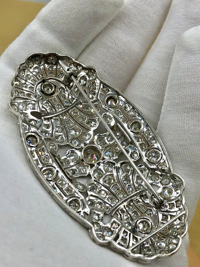 Emilio Jewelry 15.00 Carat Diamond Brooch or Pendant In New Condition For Sale In New York, NY