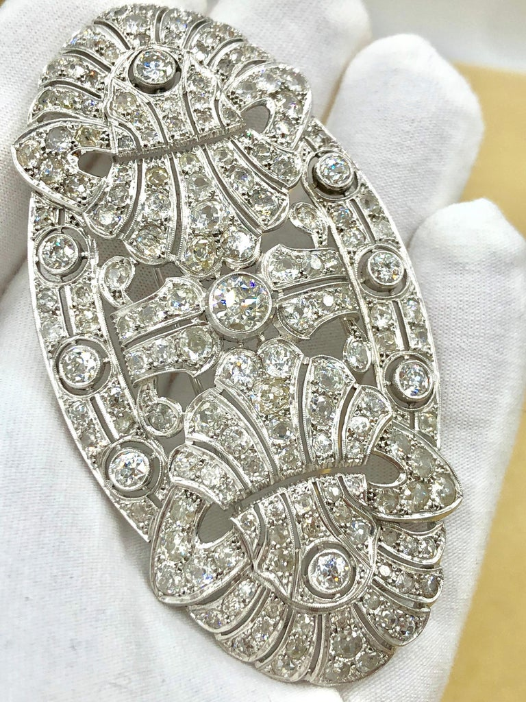 Emilio Jewelry 15.00 Carat Diamond Brooch or Pendant For Sale 2