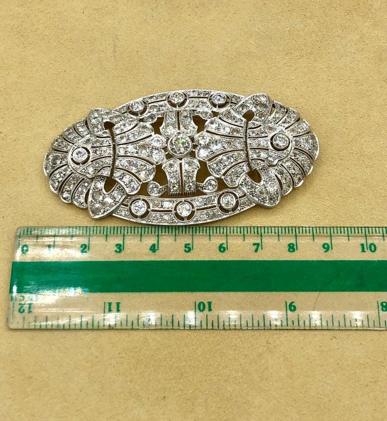Emilio Jewelry 15.00 Carat Diamond Brooch or Pendant For Sale 3