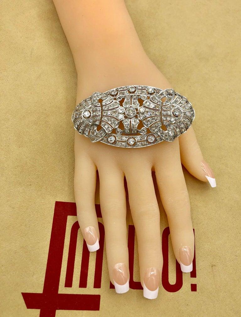 Emilio Jewelry 15.00 Carat Diamond Brooch or Pendant For Sale 5