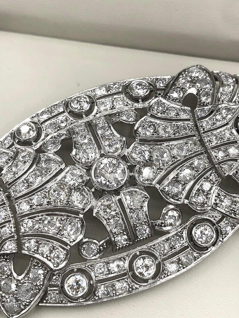 Emilio Jewelry 15.00 Carat Diamond Brooch or Pendant For Sale 7