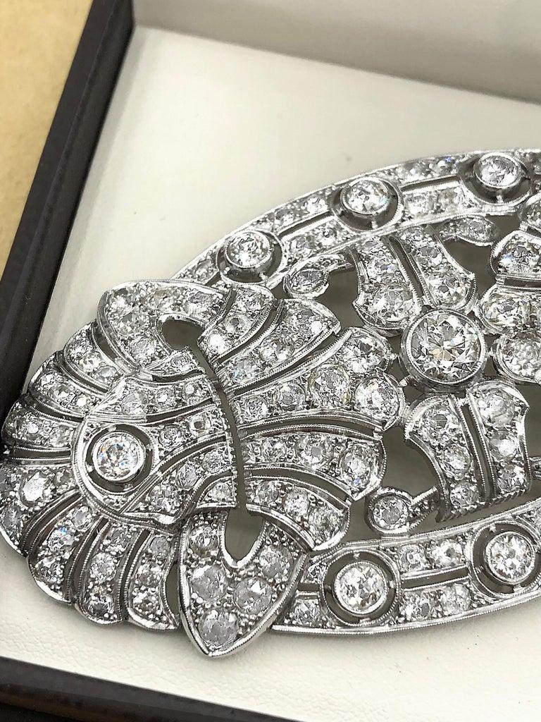 Emilio Jewelry 15.00 Carat Diamond Brooch or Pendant For Sale 8