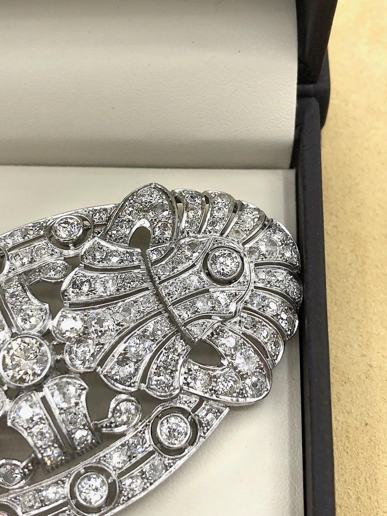Emilio Jewelry 15.00 Carat Diamond Brooch or Pendant For Sale 9