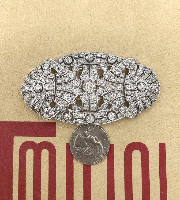 Emilio Jewelry 15.00 Carat Diamond Brooch or Pendant For Sale 11