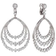 Breathtaking Diamond Red Carpet Earrings