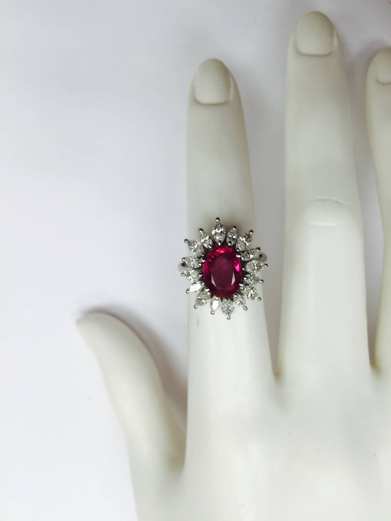 solid p yellow gold certified vintage ruby diamond ring natural rings cocktail engagement