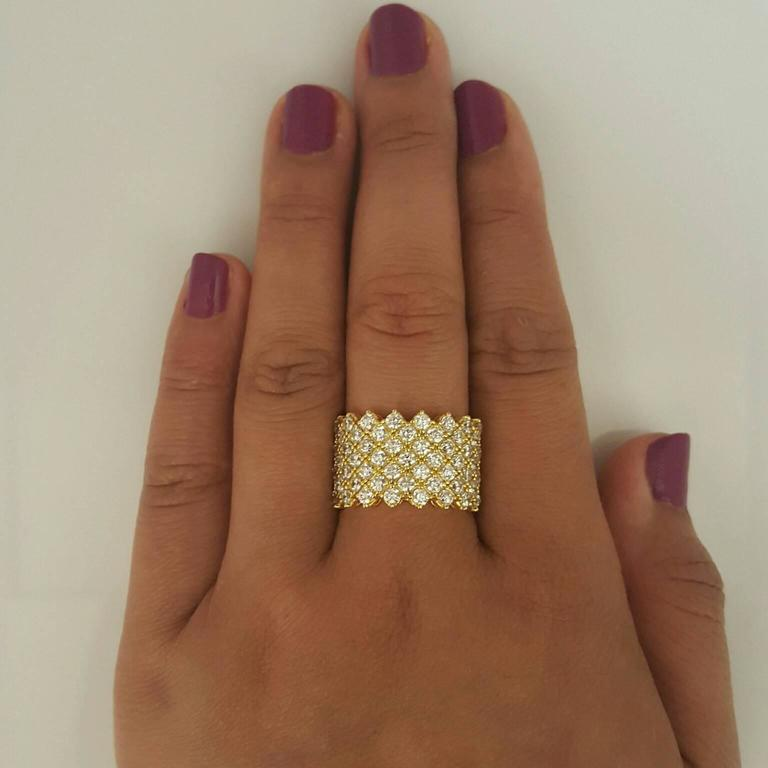 Diamond Gold Band Ring For Sale 1