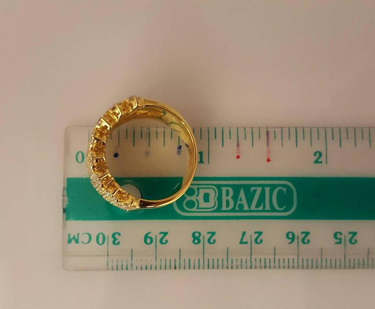 Diamond Gold Band Ring For Sale 2