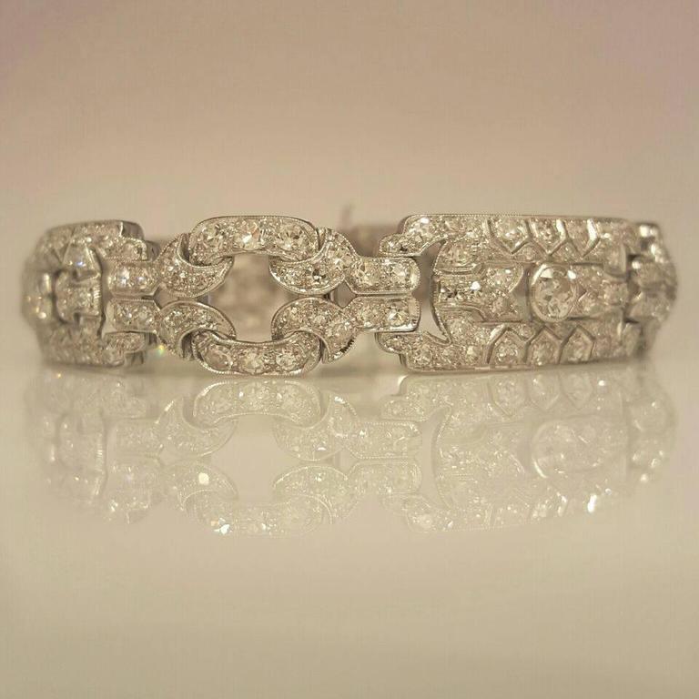 Art Deco Diamond Platinum Bracelet 2