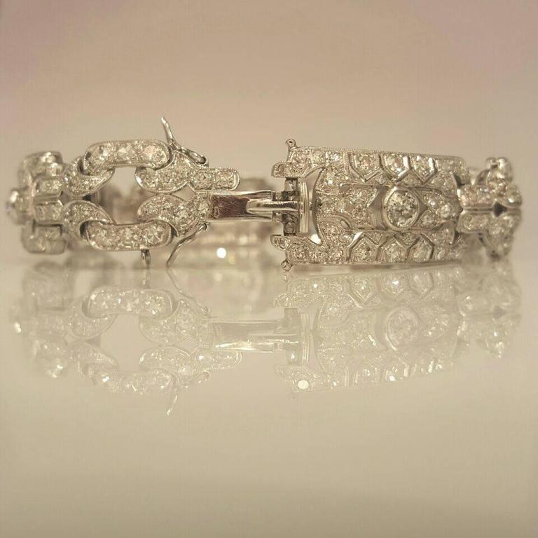 Art Deco Diamond Platinum Bracelet 3