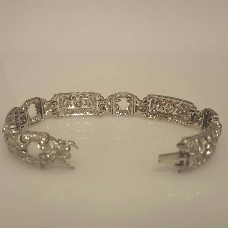Art Deco Diamond Platinum Bracelet 4