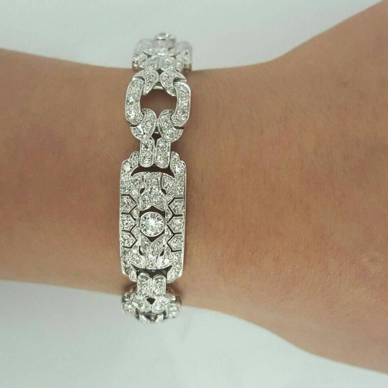 Art Deco Diamond Platinum Bracelet 5