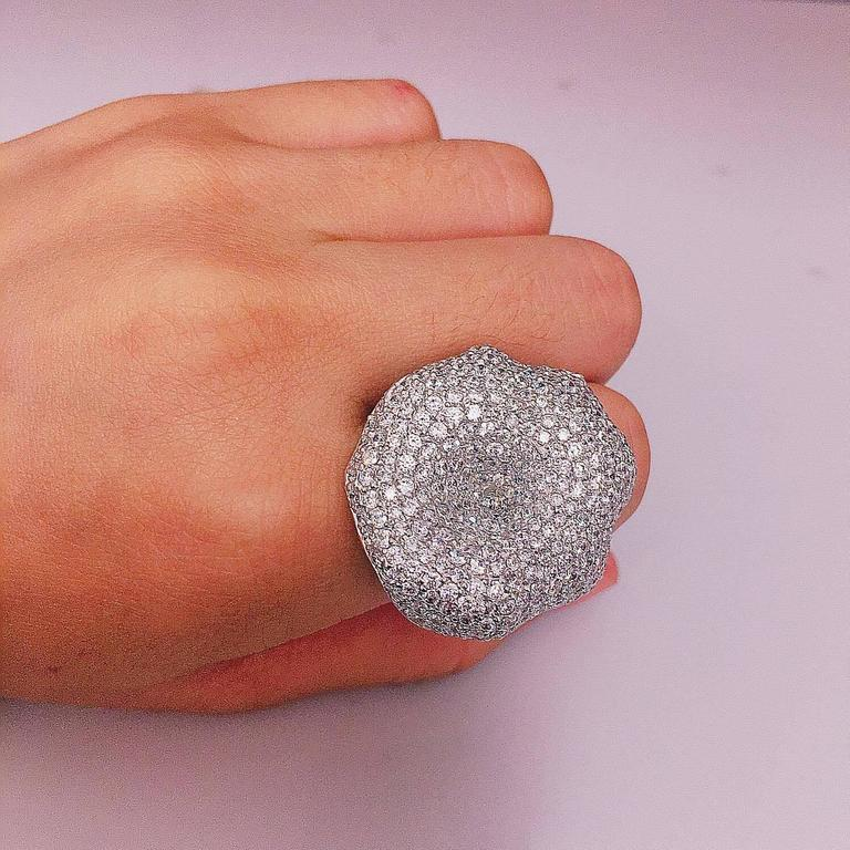 Women's One Of A Kind Diamond Cocktail Ring  For Sale