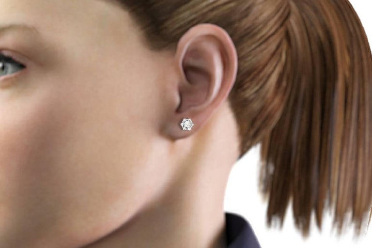 Everyday Diamond Earrings For Sale 2
