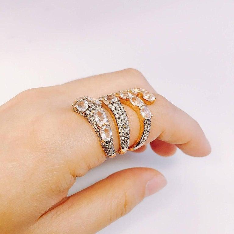 Modern Emilio Jewelry Snake Fashion Diamond Ring For Sale