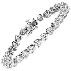 .15 Carat Each Diamond Three Prong Tennis Bracelet