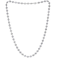 6.05 Carat Link to Link Diamond by the Yard Necklace