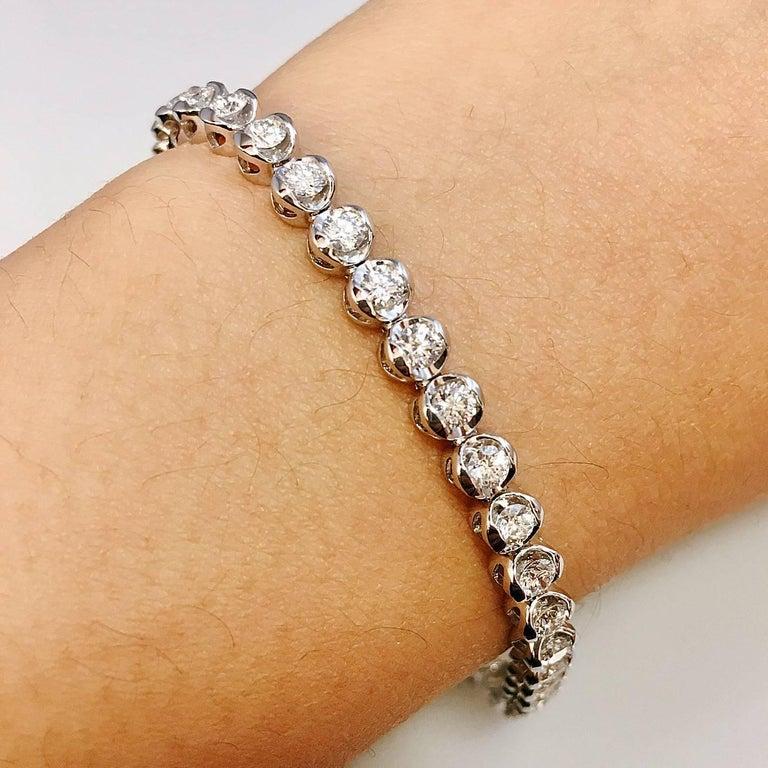 Emilio Jewelry 11 Carat Each Diamond Bracelet For Sale At