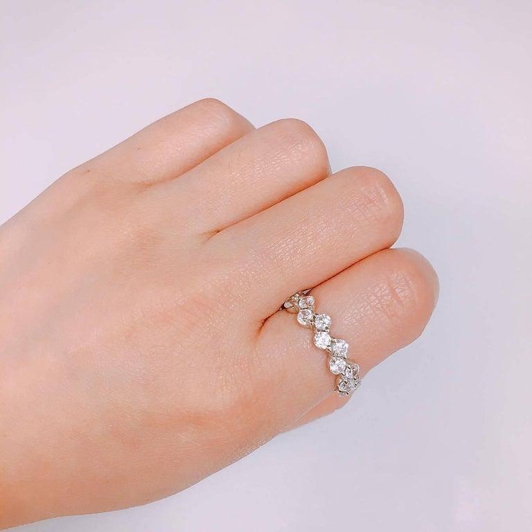 Modern Emilio Jewelry Zig Zag Diamond Wedding Band