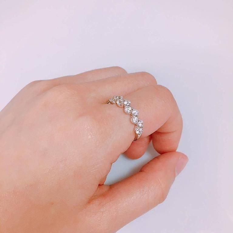 Emilio Jewelry Zig Zag Diamond Wedding Band In New Condition In New York, NY