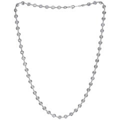 Emilio Jewelry 7.70 Carat Link to Link Diamond Necklace