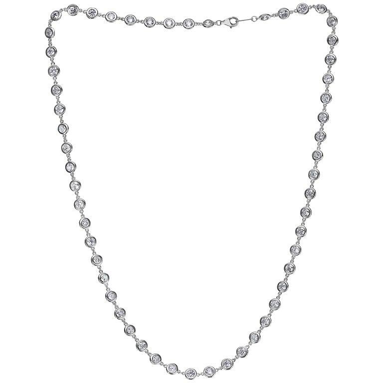 Emilio Jewelry 7.70 Carat Link to Link Diamond Necklace