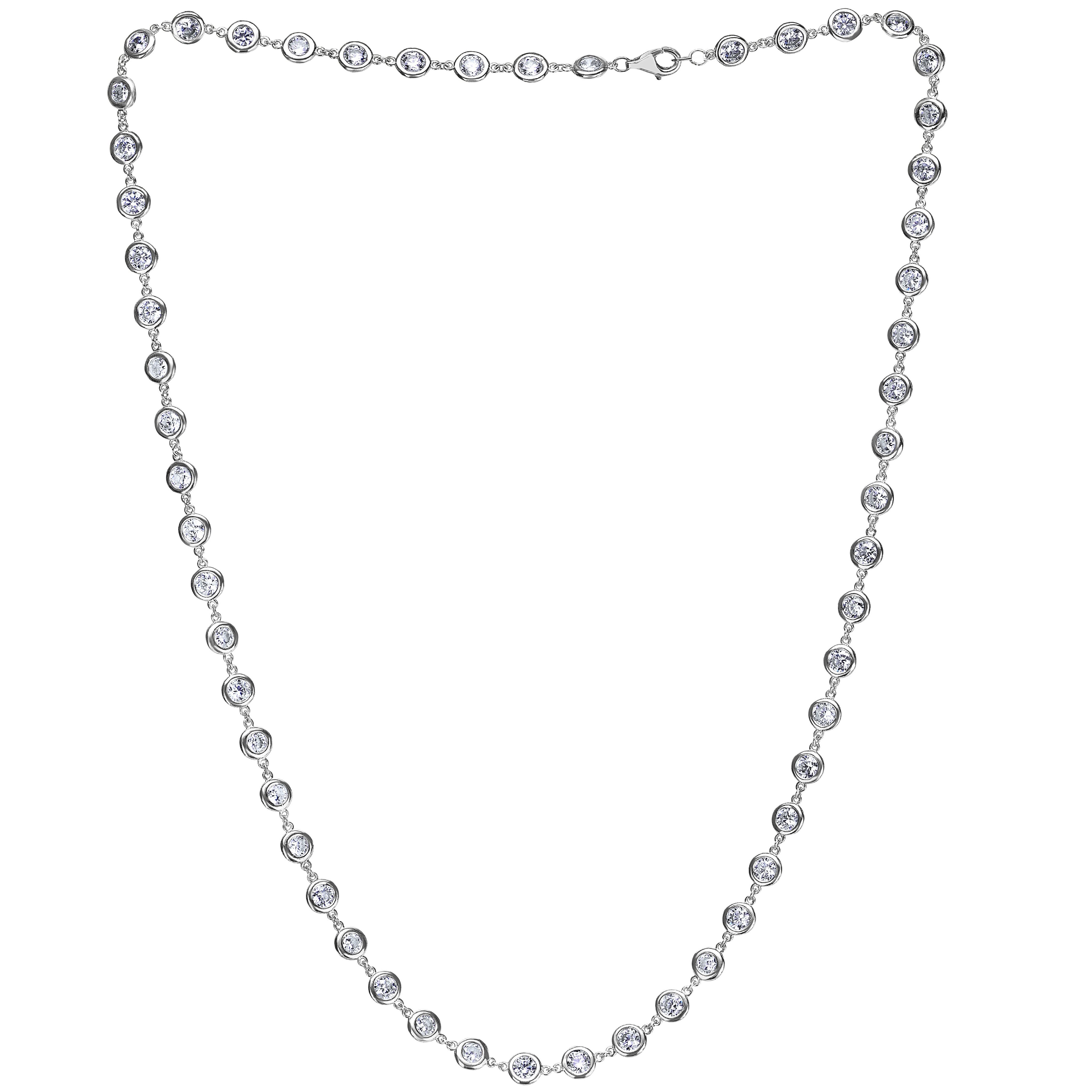 Emilio Jewelry 6.05 Carat Link to Link Diamond by the Yard Necklace