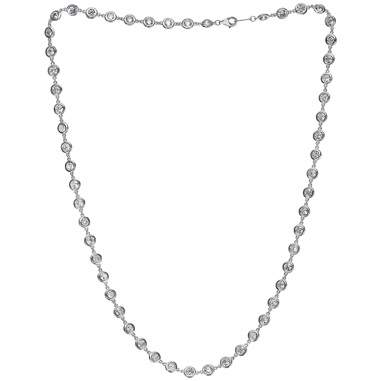 Emilio Jewelry 5.00 Carat Link to Link Diamond Necklace