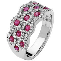 Emilio Jewelry Floating Ruby Diamond Band