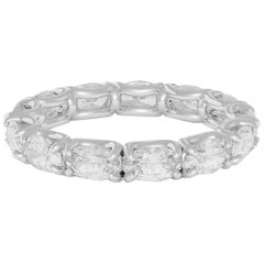 Emilio Jewelry U Prong Oval Diamond Eternity Ring, .30 Carat Each Diamond