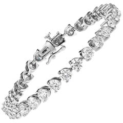 .15 Carat Each Diamond Three Prong Bracelet 6.00 Carat Total Weight
