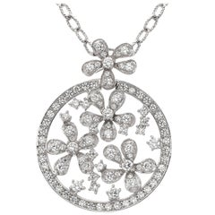 Emilio Jewelry Diamond Floral Necklace