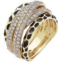 Emilio Jewelry Yellow Gold Diamond Band