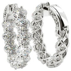 Emilio Jewelry 6.00 Carat Oval Diamond Earrings