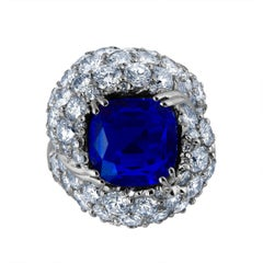 Emilio Jewelry Crown Jewel the Kashmir Dream 11.39 Carat Certified Kashmir Ring