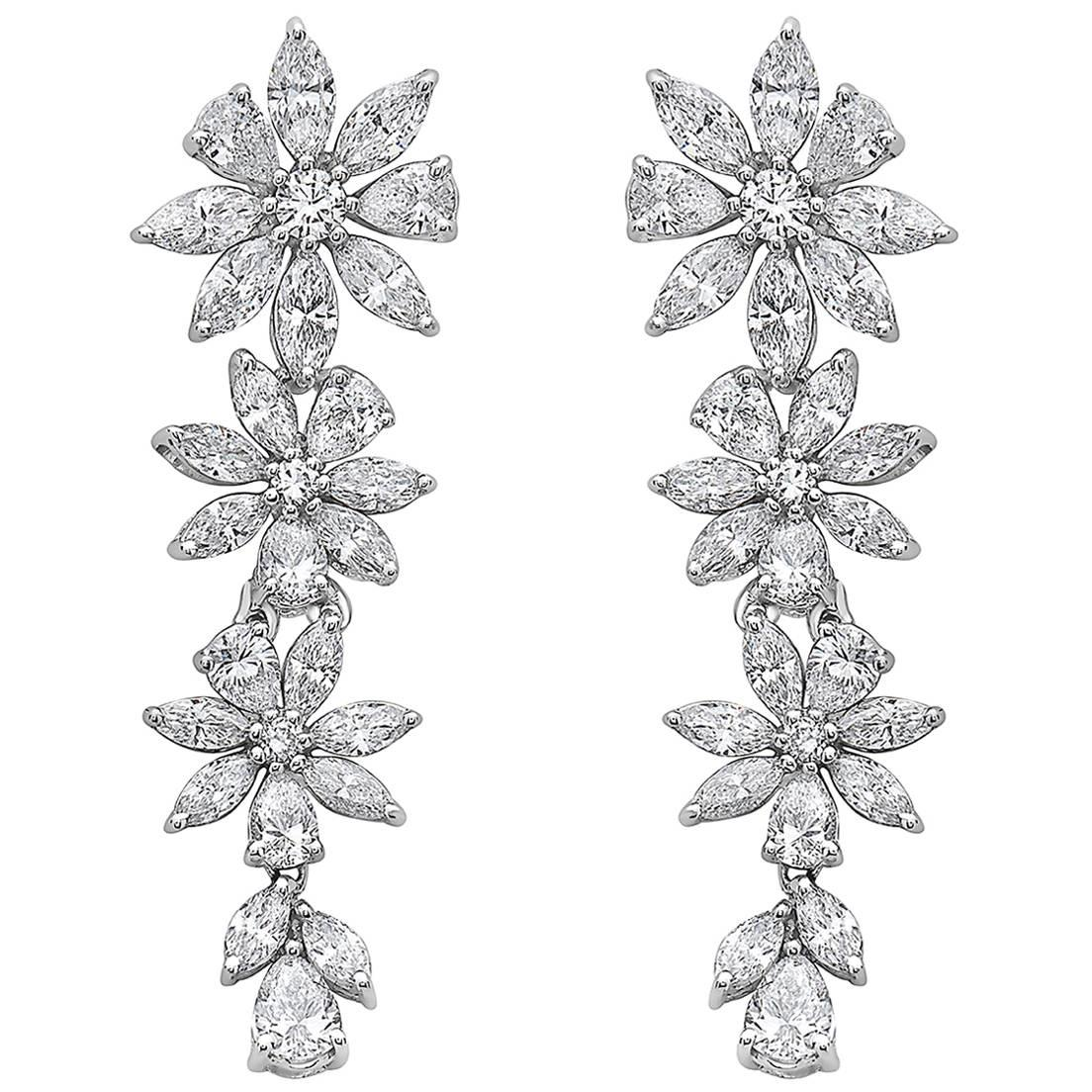 Emilio Jewelry 3.86 Carat Marquise Diamond Earring
