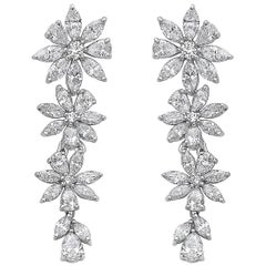 Emilio Jewelry 3.86 Carat Marquise Diamond Earring